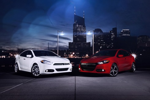 2013 Dodge Dart - Shown in two of its fourteen different extrior colours