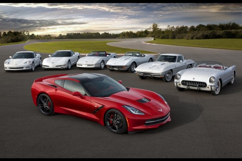 Corvette Stingray Generations on 2014 Chevrolet C7 Corvette     With The Other 6 Generations