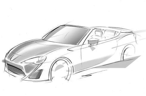 Toyota FT-86 - Open Concept Car Sketch