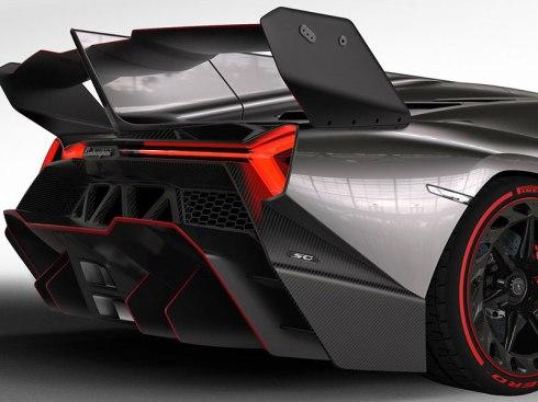 Lamborghini Veneno - Rear Diffuser and Le Mans Style Wing