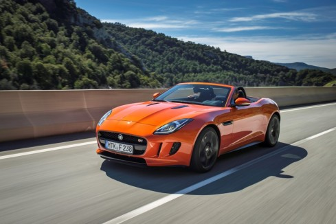 2014 Jaguar F-Type - Front 3/4 while driving