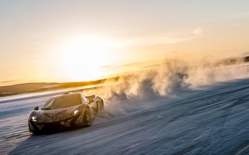 McLaren P1 - Getting Sideways on Ice