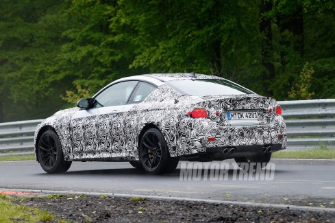 2014 BMW M4 Spy Shot - Rear 3/4