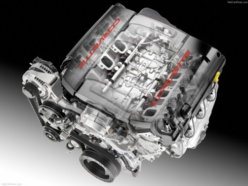 2014 Chevrolet Corvette Stingray's LT1 V-8 engine