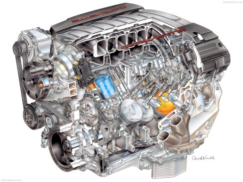 2014 Chevrolet Corvette Stingray's LT1 V-8 engine cut-away