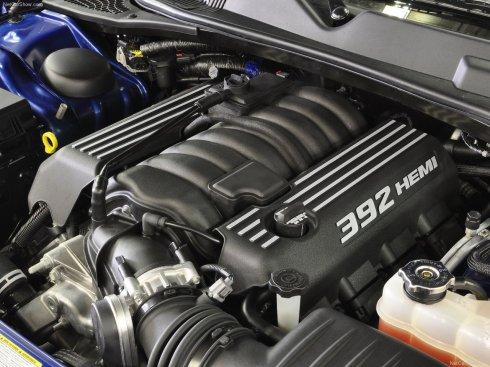 The Challenger's 6.4-liter Hemi