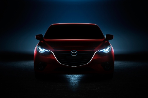 2014 Mazda 3 - Front Headlight Silhoutette